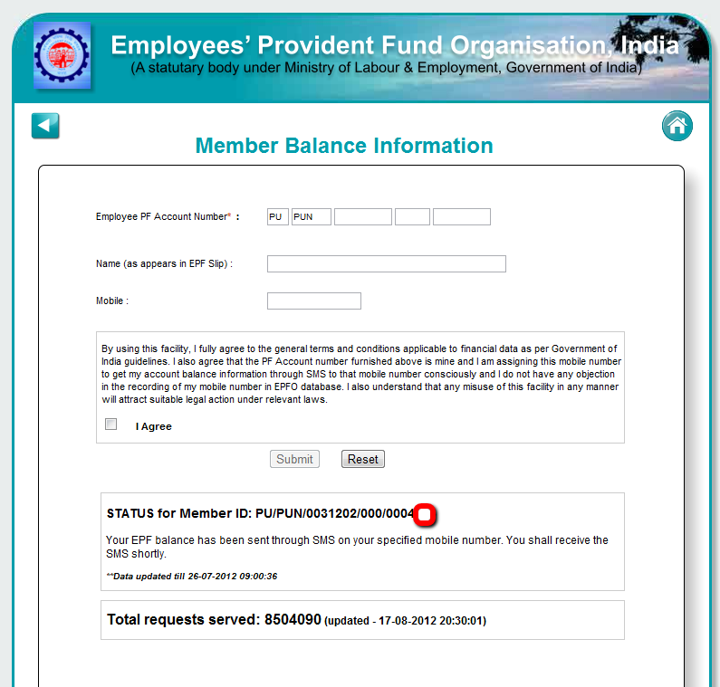 Checking epf provident fund balance online - Can i check my post office account online ...