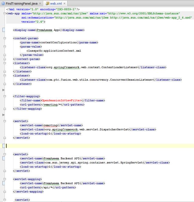 Xml Website Example: Web.xml Servlet Configuration