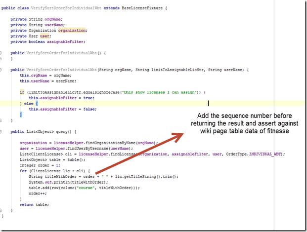 fixture code to sort order