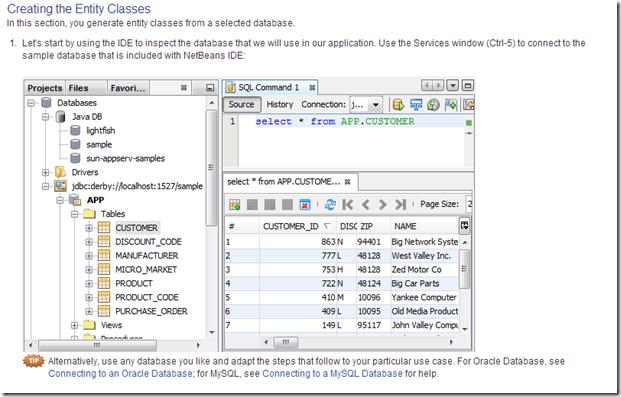 IDE : Netbeans database explorer view   PremAseem me