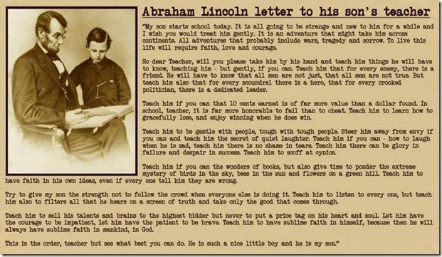 Abraham Lincoln's Letter