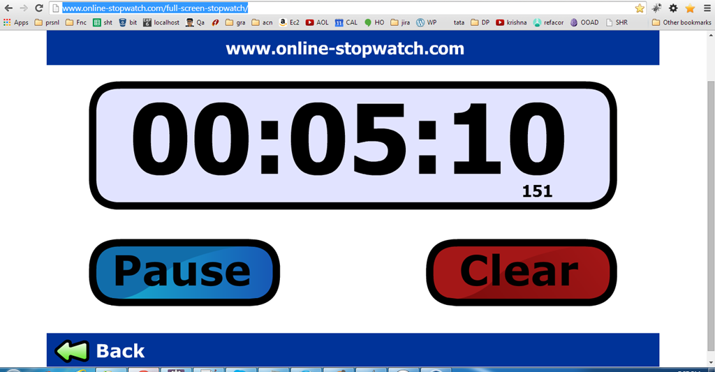 Online stop watch to track your time | PremAseem.com