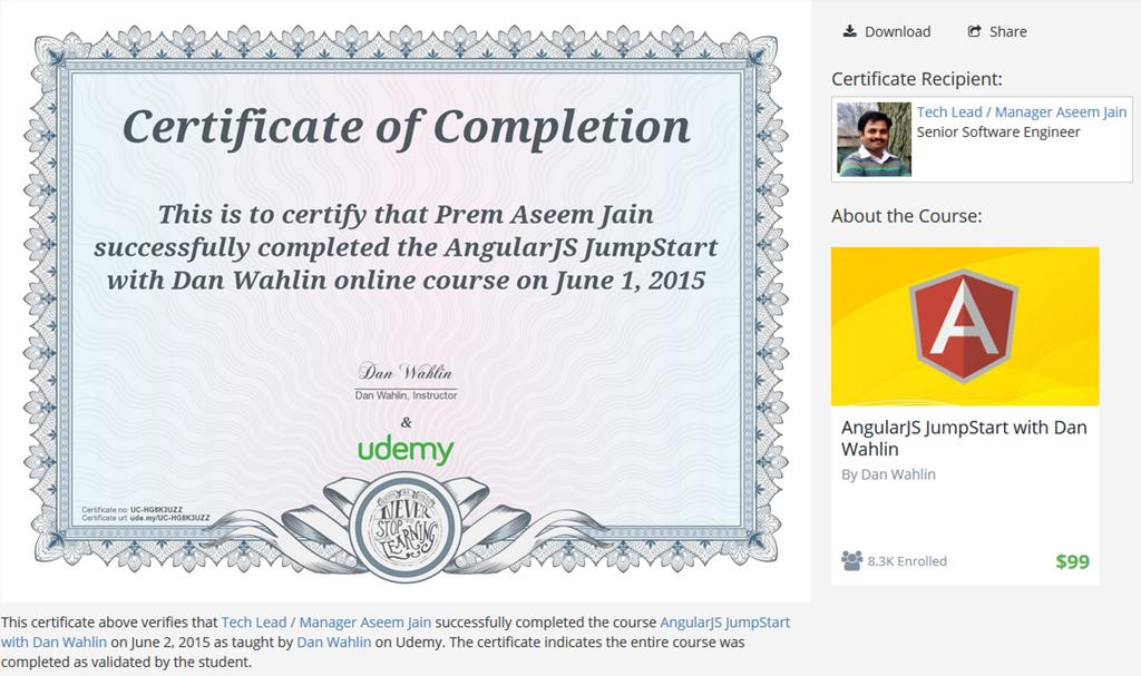 Certificate Angularjs Premaseem