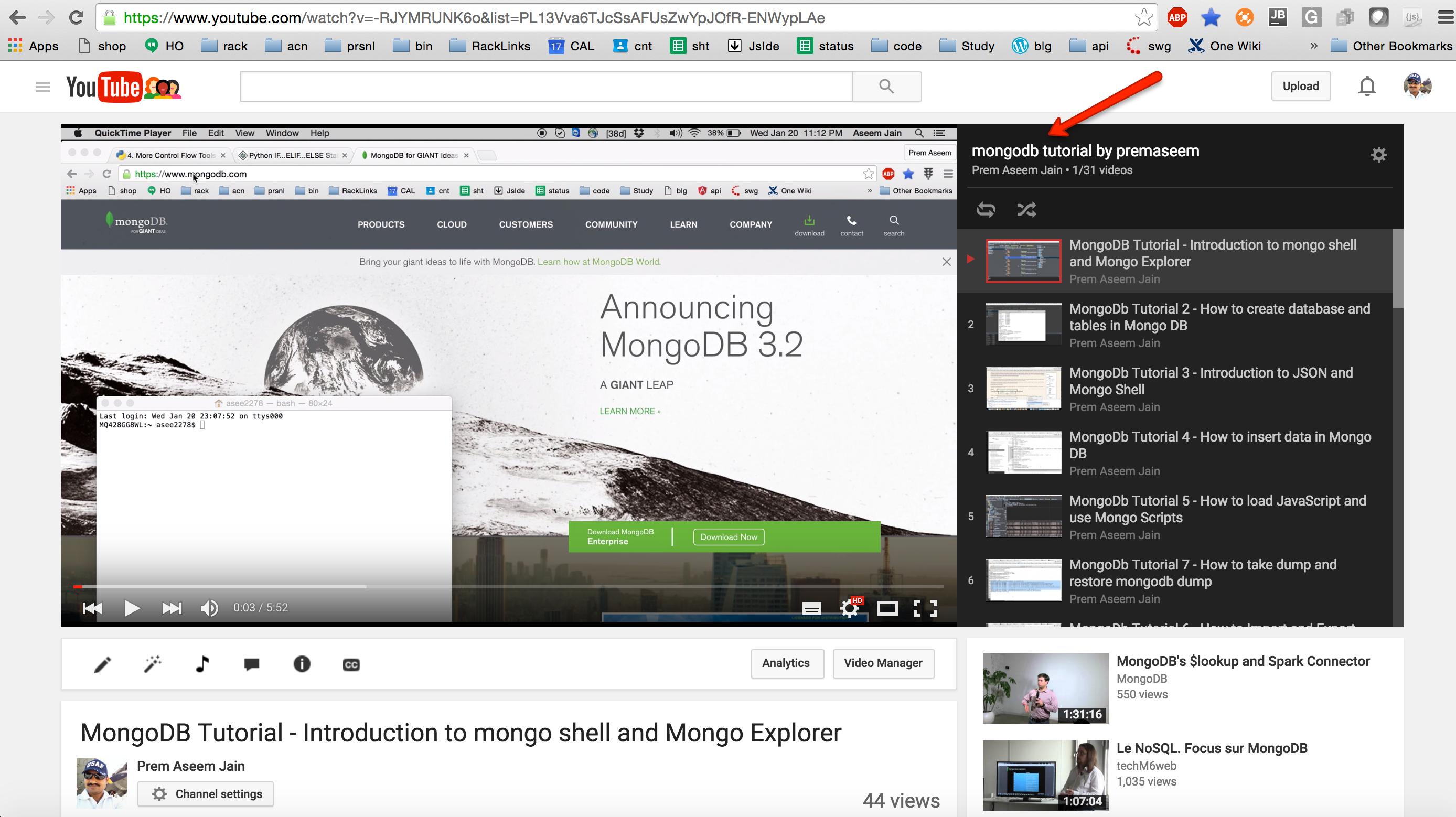 mongoDB tutorial on youtube.png