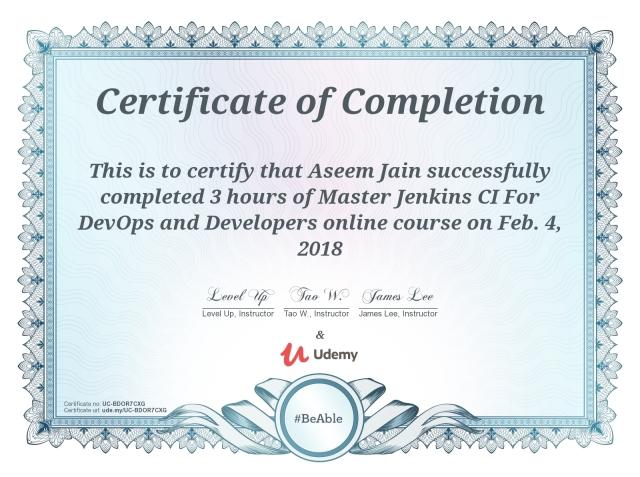 Jenkins-certificate